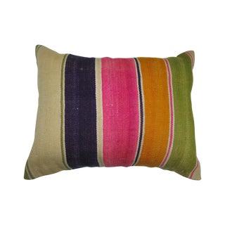 Turkish Striped Kilim Pillow