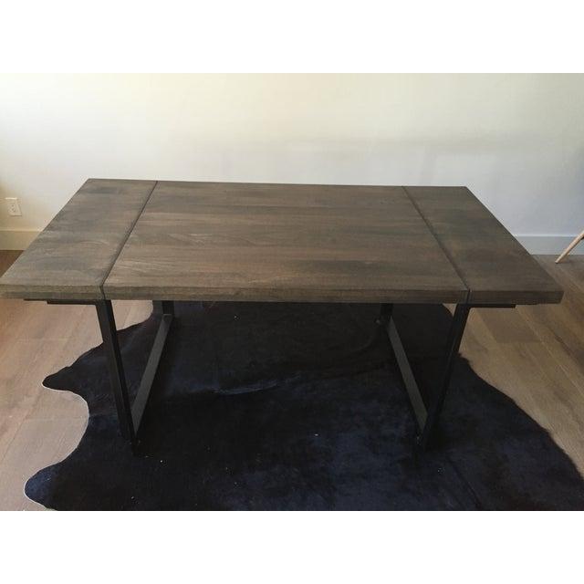 Modern Steel Base Wood Table Top - Image 2 of 5