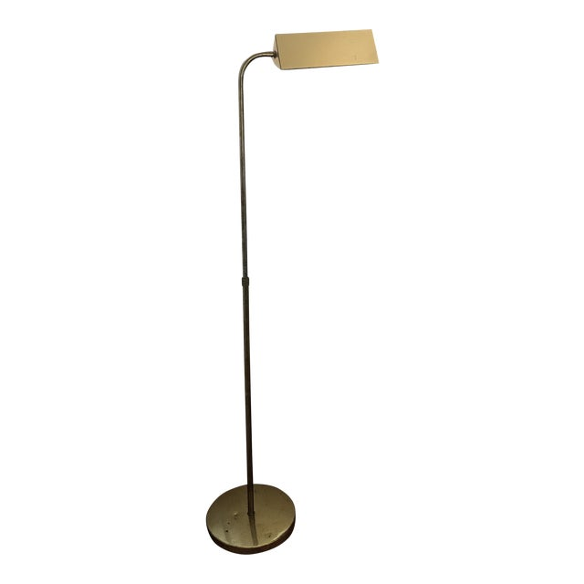 Mid-Century Pharmacy Brass Floor Lamp