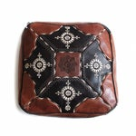 Image of Moroccan Leather Pouf