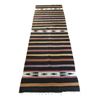 Vintage Turkish Kilim Runner - 2′11″ × 8′8″
