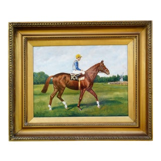 Racehorse Bon Mot Oil Painting