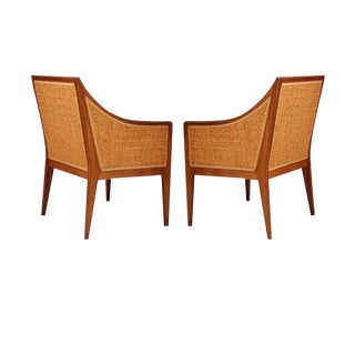 Léon Jallot Pair of French Walnut Armchairs