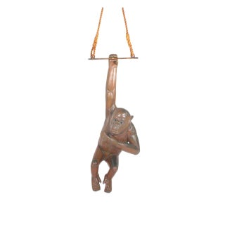 Large and Impressive Bustamante Copper Chimpanzee Hanging Sculpture