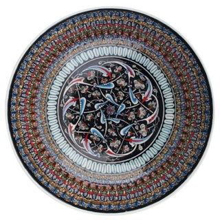 Rug & Relic Hand-Painted Ceramic Floral Bowl