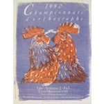 Image of Original French Poster 1990 Roosters