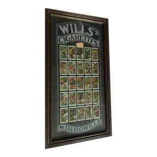 Framed English Botanical Cigarettes Cards