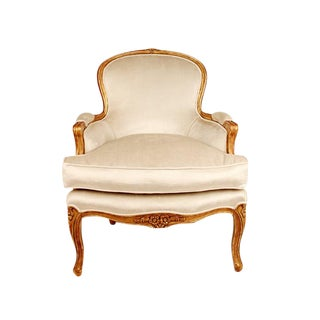Louis XV Style Giltwood Bergere Chair