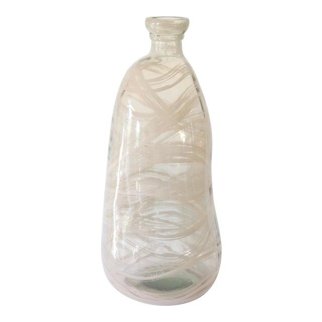 Image of Oversize Modern Art Glass Demijohn