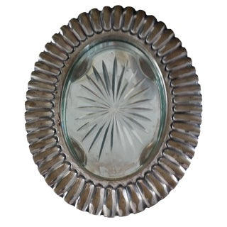 Gorham Art Deco Silver & Glass Wine Trivet