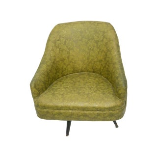 Mid-Century 1960s Gold Floral Club Chair