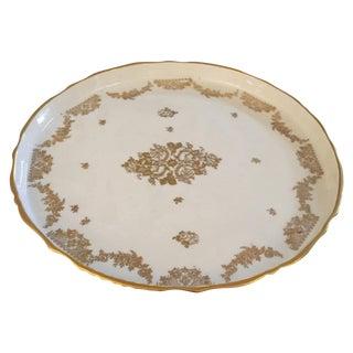 Gold & White Porcelain Cake Plateau