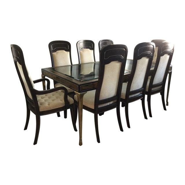 Image of Bernhard Rohne Amboyna Burl Dining Set