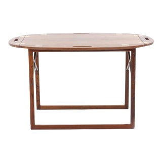 Rosewood and Brass Tray / Butlers Table by Svend Langkilde for Illums Bolighus