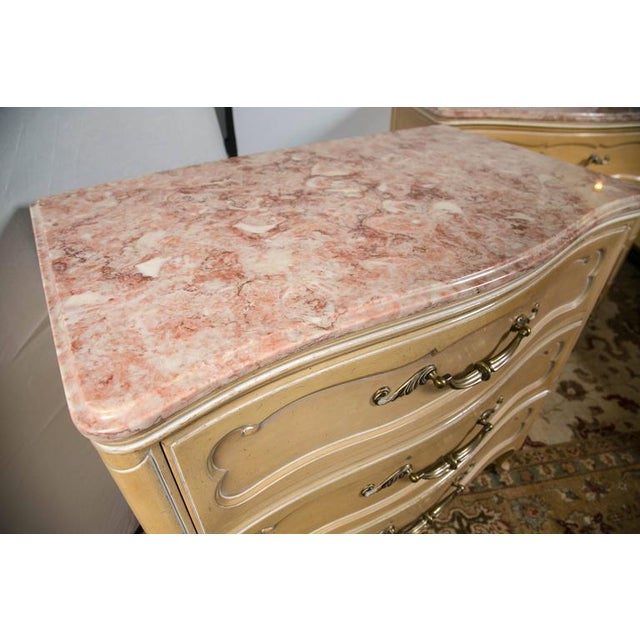 Grosfeld House Louis XV Marble-Top Commodes - Pair - Image 3 of 8