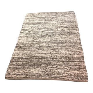 Gray and Ivory Marled Wood Area Rug - 5′4″ × 8′