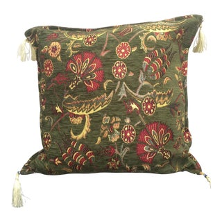 Authentic Green Kilim Pillow Cover