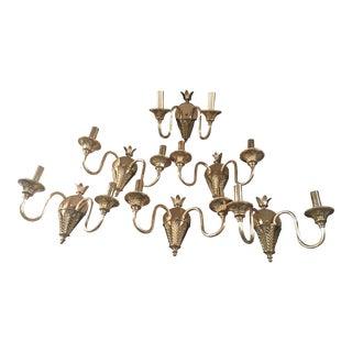 Fabbian Wall Mount Brass Sconces - Set of 6