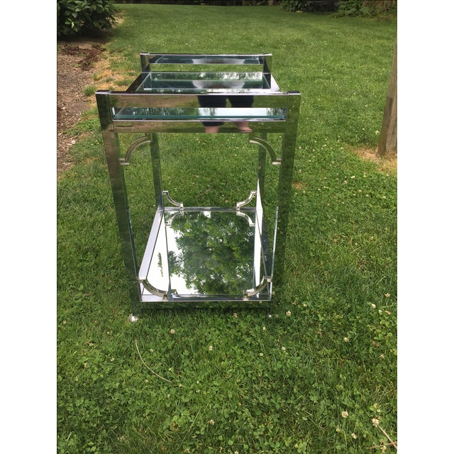 Mid-Century Chrome Bar Cart - Image 3 of 6