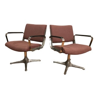 Chrome Eames Style Chairs - A Pair