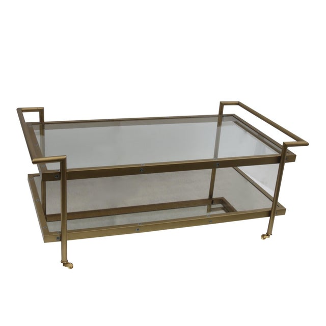 Image of James Brass and Antique Mirror Coffee Table