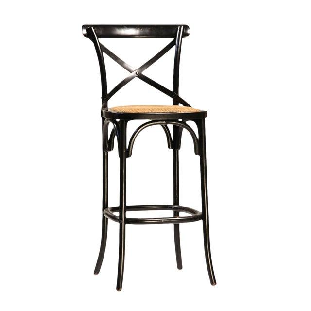 Black Painted Oak Bar Stool - Image 1 of 2