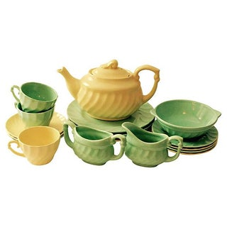 Metlox California Pottery Luncheon Tea Set