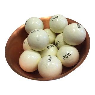 Copper Bowl & 11 New Polo Balls Decor