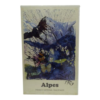 """Vintage """"Alpes"""" Salvador Dali Poster"""
