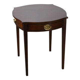 Kindel Winterthur Collection Mahogany Inlaid Hepplewhite Style Occasional Table (A)
