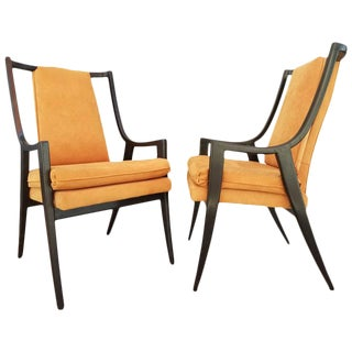 Pair of Harvey Probber Lacquered Armchairs
