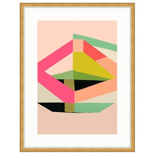 Inaluxe's 'Odyssey' Abstract Print in Gold Frame