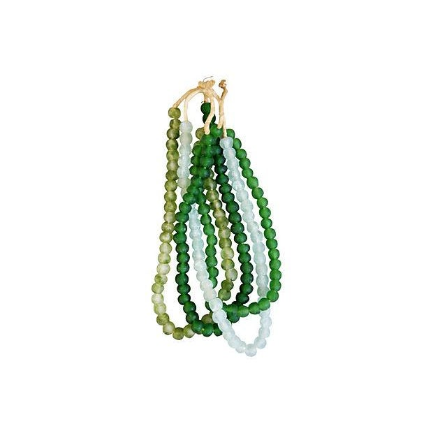 Emerald & Ice Sea Glass Bead Strands - Set of 4 - Image 4 of 4