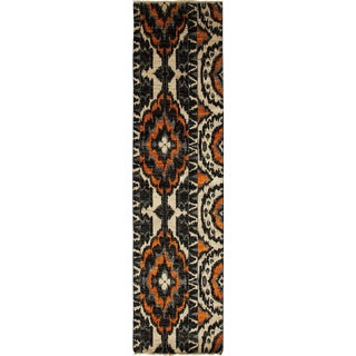 "Ikat, Hand Knotted Runner Rug - 2' 7"" x 10' 5"""