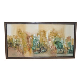 C.1964 Abstract San Francisco Russian Hill Cityscape