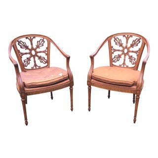 Vintage Spider Back French Provincial Chairs - Pair