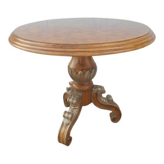 Hollywood Regency Birds Eye Maple Inlay Center Table