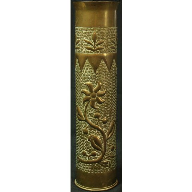 Antique Belgian Militaria Shell Case Brass Vases - Image 4 of 8