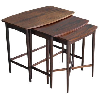 Johannes Andersen Style Rosewood Nesting Tables - Set of 3