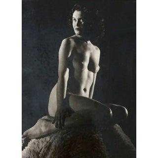 C.1950 Vintage Mid-Century Nude Female Photograph