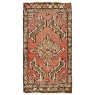 "Turkish Yastik Hand Knotted Wool Rug - 1'7"" X 2'11"""
