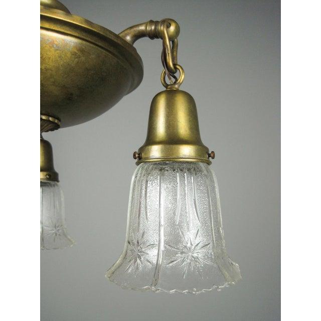 Original Arts & Crafts Pan Light Fixture (3-Light) - Image 5 of 8