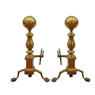 Brass Andirons - A Pair