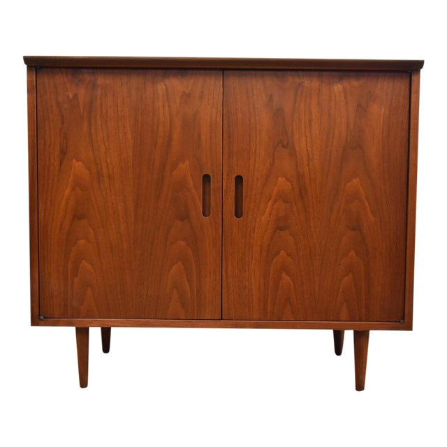Mid-Century Modern Walnut Bar Cabinet - Image 1 of 8