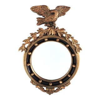 Circular Gold Federal Wall Mirror with Eagle