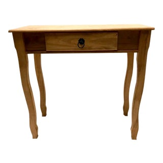 Solid Pine Wood French Country Console Table