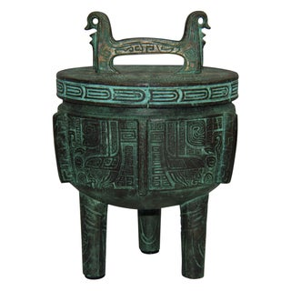 James Mont Style Bronze Ice Bucket With Lid
