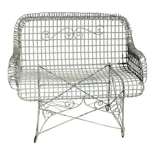 Antique Garden Wire Patio Bench