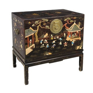Chinese Coromandel Chest on Stand