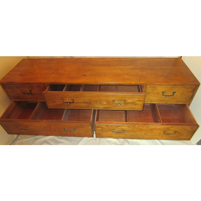 Henredon Campaign Style Dresser/Buffet - Image 5 of 7